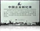 中国企业新记录