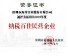 2009年度纳税百佳民营企业