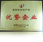 Advantaged Enterprise Award of Shenzhen Intellectual Property Office